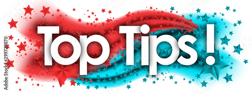 Photo Top Tips in stars colored background