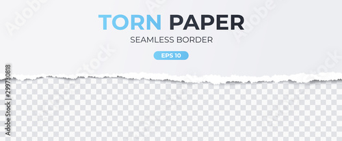Seamless torn ripped paper layered isolated Canvas-taulu