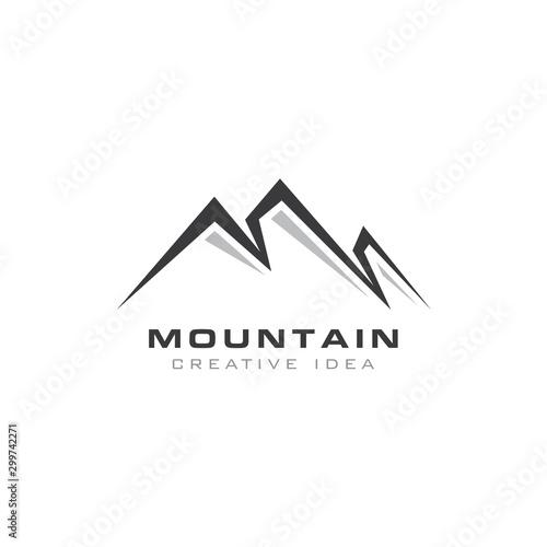 Creative Mountain Concept Logo Design Template Wall mural