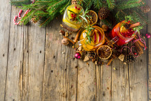 Winter Sangria, Mulled Wine Or Hot Mulled Cocktails