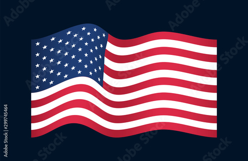 Valokuva  US American straight flag with true colors.