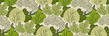 Seamless Pattern With Green Tr...