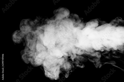 Fond de hotte en verre imprimé Fumee Smoke black and white & for background