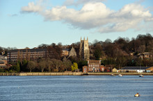 01.12.2008 Rochester Kent UK. View Across The River Medway Kent Towards Rochester