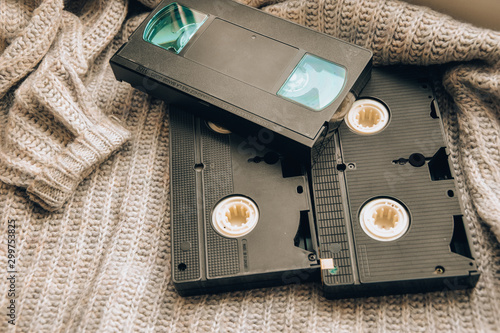 Foto  video cassette tape film vintage record retro