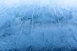 canvas print picture - Frost auf einer Oberfläche, Eiskristalle