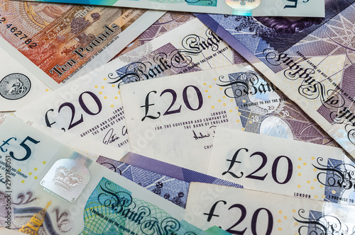 Obraz British pounds banknotes  - fototapety do salonu