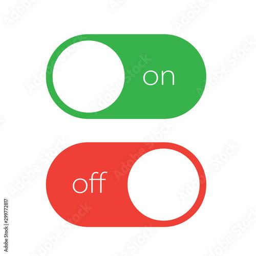 On and off tumbler. User interface element slider switch Tapéta, Fotótapéta