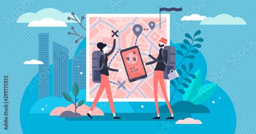 Fotografia Trip planning vector illustration