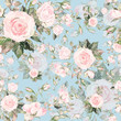 Watercolor seamless pattern of roses with buds-7