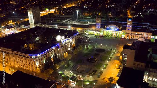 Fototapeta Night Kharkov obraz na płótnie