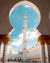 White Concrete Mosque During D...