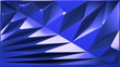 canvas print picture - abstract blue crystal background 3d rendering