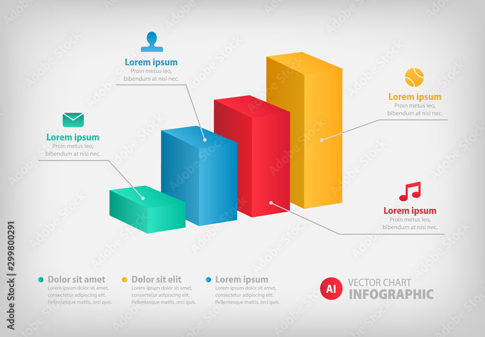 Fototapeta Bar Chart Infographic