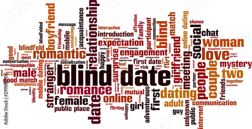 Photo Blind date word cloud