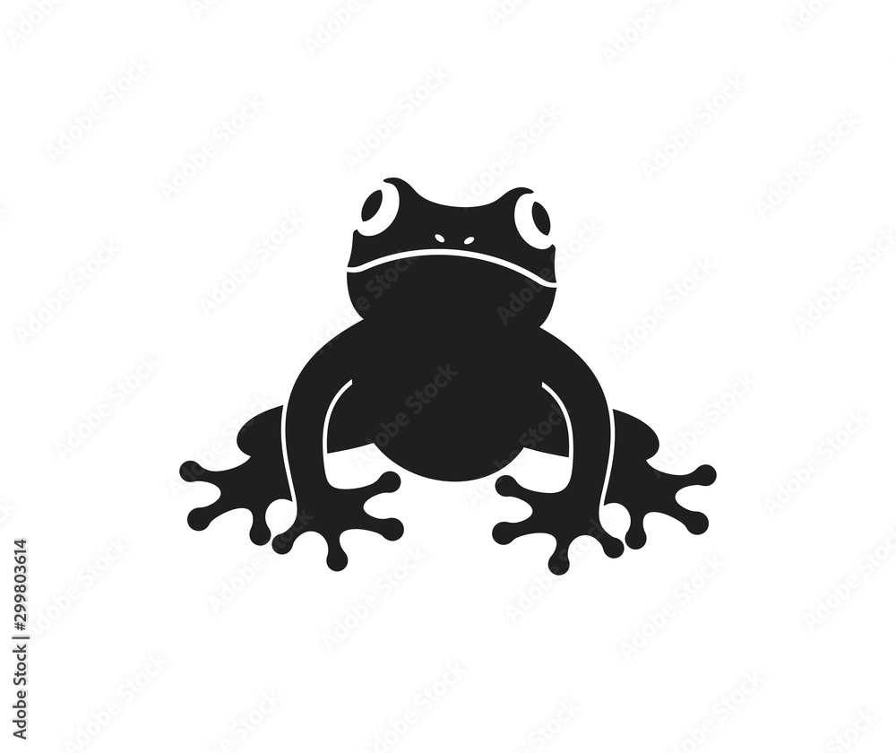Fototapety, obrazy: Frog logo. Abstract frog on white background