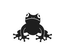 Frog Logo. Abstract Frog On White Background