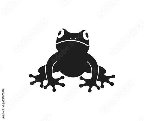 Photographie Frog logo. Abstract frog on white background