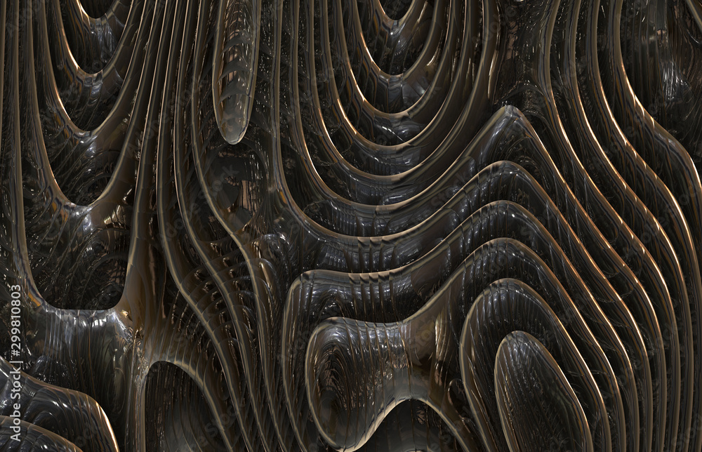 Fototapety, obrazy: weird strange abstract metal steel