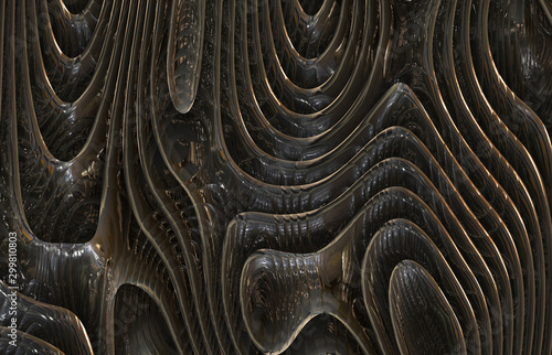 Fotografie, Tablou  weird strange abstract metal steel