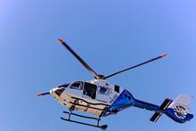 Polizei Hubschrauber Beim Flug