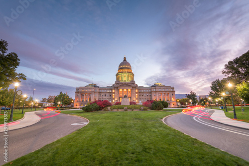 Fotografie, Tablou Idaho State Capitol building at dawn in Boise, Idaho