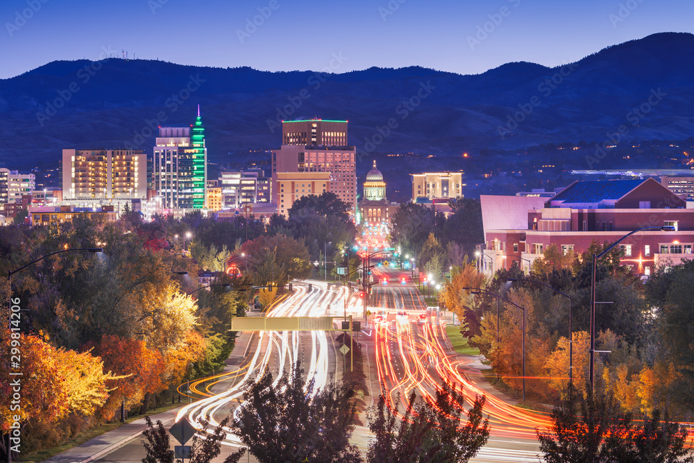 Fototapety, obrazy: Boise, Idaho, USA downtown cityscape