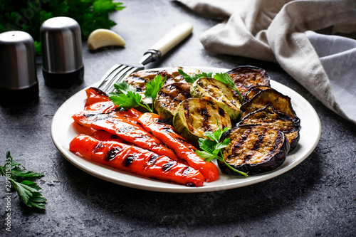 Grilled vegetables. Summer vegan food Wallpaper Mural