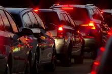 Stau Verkehr Autos Nacht