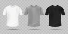 Blank Realistic T-shirt Mockup...