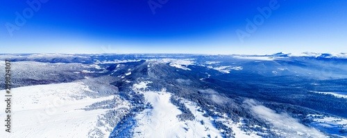 Montage in der Fensternische Dunkelblau Magical 360vr panorama of a beautiful hill