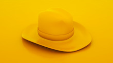 Cowboy Hat Isolated On Yellow ...