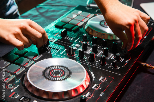 dj scratching vinyl record Wallpaper Mural