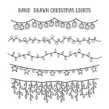 Vector Set Hand Draw Christmas...
