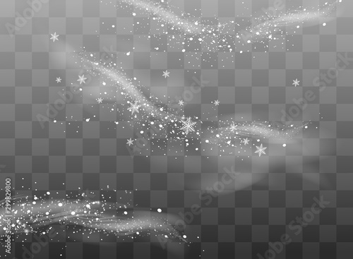 The dust sparks and golden stars shine with special light Fototapeta
