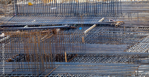 Stampa su Tela Steel rebar reinforcemen background
