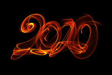 Happy New Year 2020 Isolated N...