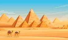 Giza Egyptian Pyramids Desert ...