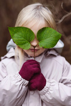 Portrait Of Blond Little Girl ...