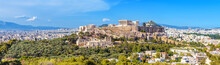 Panorama Of Athens With Acropo...