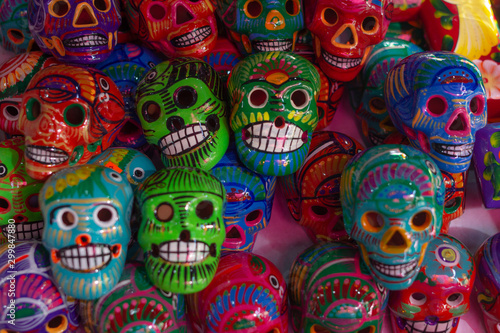 Fototapety, obrazy: calaveras de barro en guadalajara