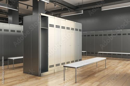 Obraz na plátne clean locker room interior side