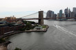 Brooklyn bridge in new York. View of the Brooklyn Bridge from Brooklyn and a view of New York.