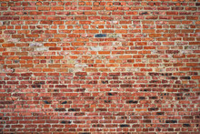 Old Red Brick Wall Texture Bac...