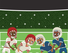 American Football Players Playing Characters
