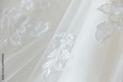 Fotografie, Tablou Wedding dress lace close up macro