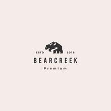 Bear Creek Mount Logo Hipster ...
