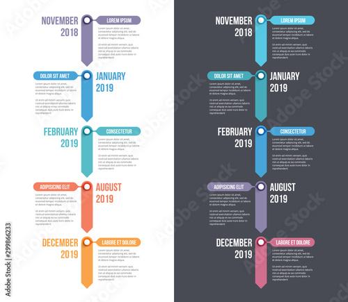 Timeline Infographics Wallpaper Mural