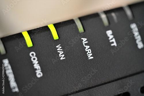 Fotomural  Macro view on WAN led flashing
