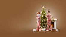 Unusual Christmas 3D Illustration